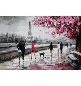 Olieverfschilderij 80x120cm Seine