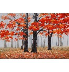 Olieverfschilderij 80x120cm Najaar