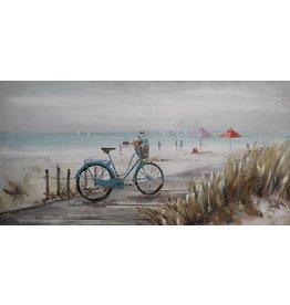 Olieverf schilderij 120x60cm Strand