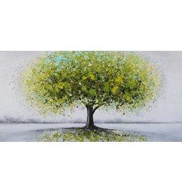 Olieverf schilderij 120x60cm Green