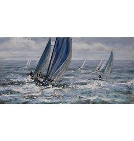 Olie op canvas schilderij 120x60cm Ruig