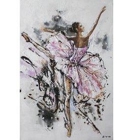 Canvas sschilderij 80x120cm Ballerina