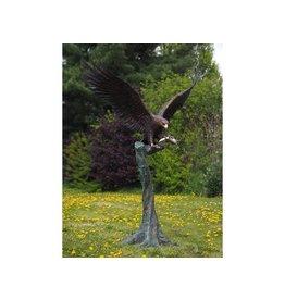 Eagle auf Stumpf Bronze