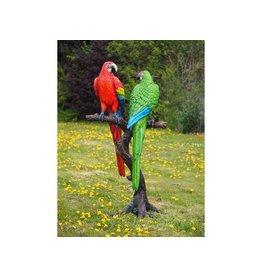Bronze Papageien auf Baumstamm