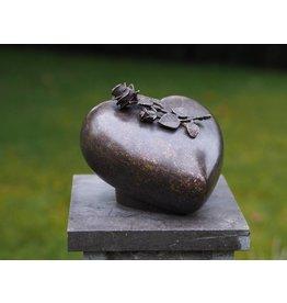 Bronze Urne mit Rose
