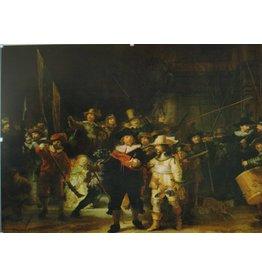 De Nachtwacht glasschilderij 80x120cm