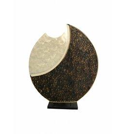 Tischleuchte oval Tara in 3 Dimensionen
