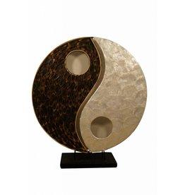 Taffellamp YingYang Bambus in drei Dimensionen