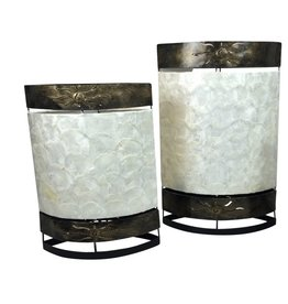 Tafellamp ovaal Plat in 2 maten