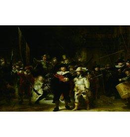 Eliassen Nachtwacht glasschilderij 100x150cm
