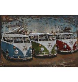 3d schilderij 120x8-0cm 3 bussen