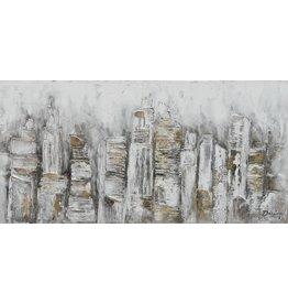 Wandbild auf Leinwand 70x140cm Zusammenfassung Stadt