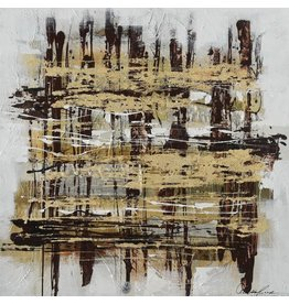 Canvas schilderij 100 x 100cm Stripes