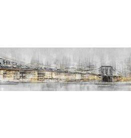 Wandbild auf Leinwand 150x50 cm große Stadt