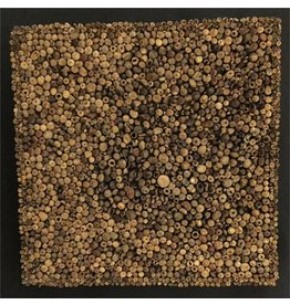 Wandpaneel Holz Scheibe Quadrat