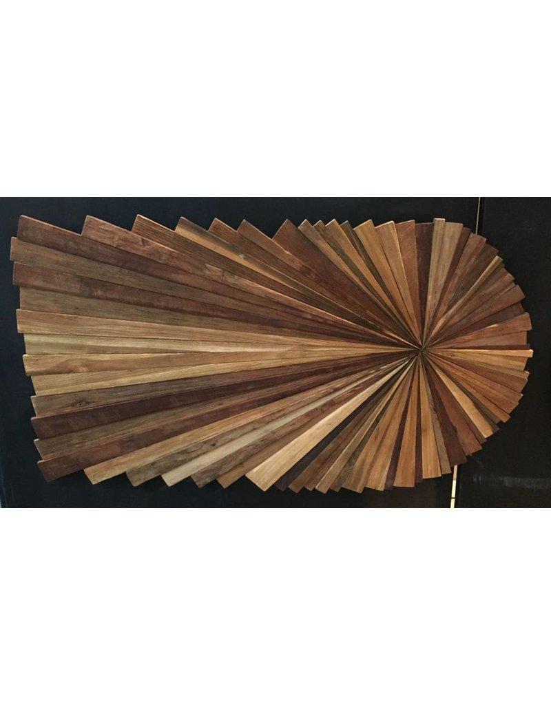 Wandpaneel hout Straal