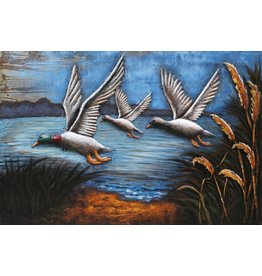 3d painting 80x120cm 3 Geese