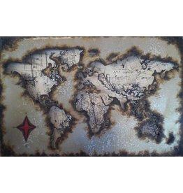 Metal painting 40x60cm Globe 7