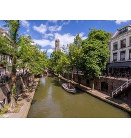 Canvas painting Utrecht canal 80x120cm