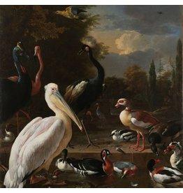 Dibond schilderij Het drijvende veertje