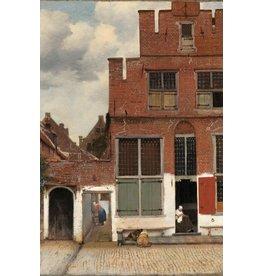 Dibond painting 148x98cm Street in Delft