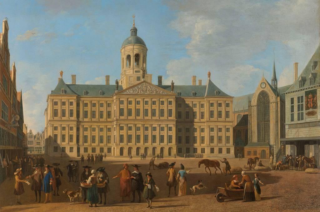 Schilderij Dibond Stadhuis op de dam