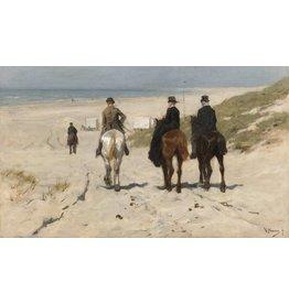 Schilderij dibond Morgenrit langs het strand