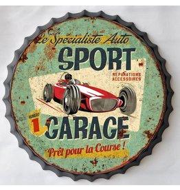 Wanddekoration Bierflasche Kappe Sport