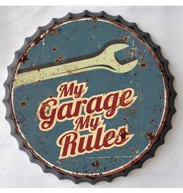Wanddekorationen Bierflasche My Garage cap