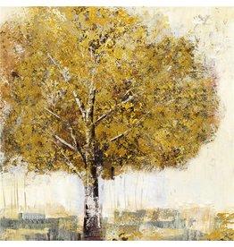 Canvas schilderij Berk 100x100cm