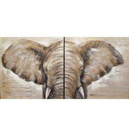Ölgemälde 2 Luke Elefant 80x80cm