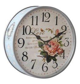 Keksdose Uhr Rose