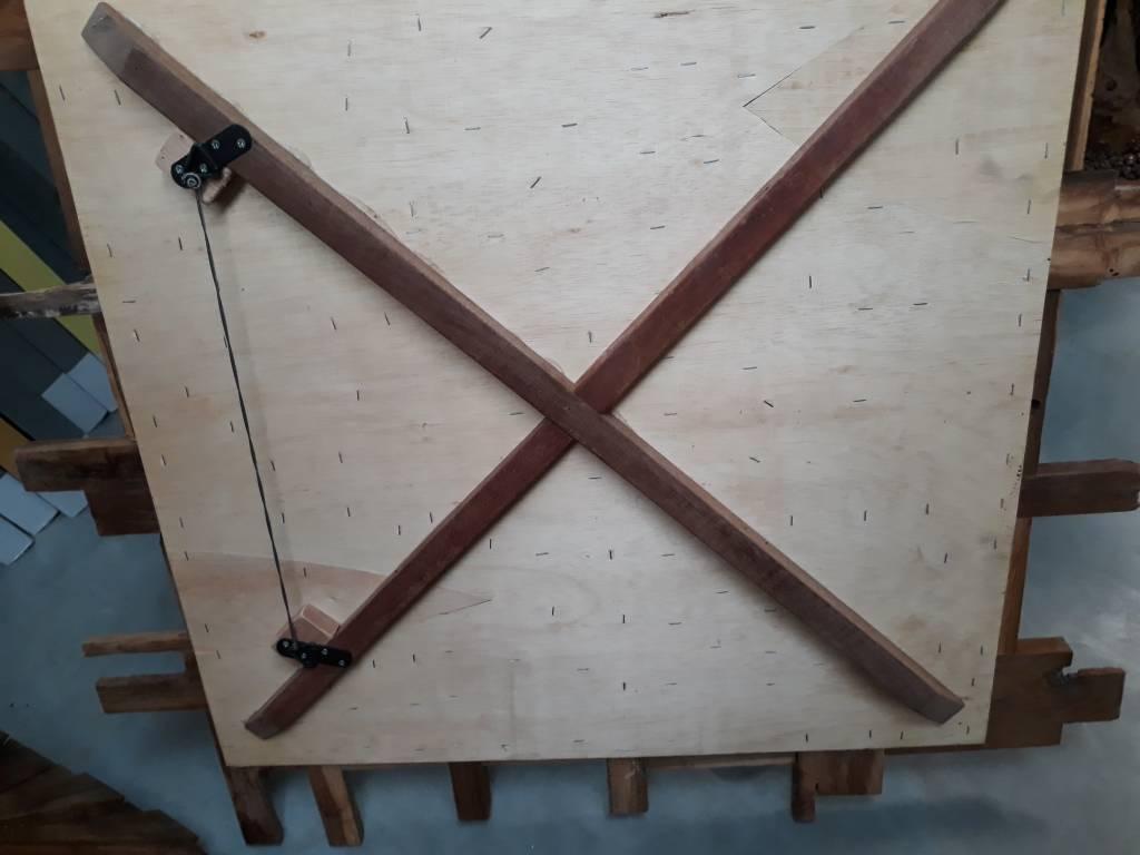 Wandpaneel hout Slice vierkant