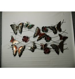 3d muurdecoratie met 10 vlinders