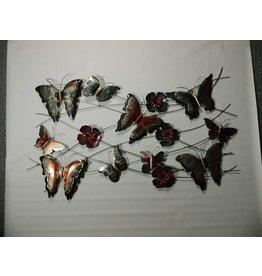 3D Wanddekoration mit 10 Schmetterlinge