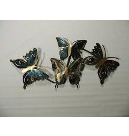 Wanddekoration 3d vier Schmetterlinge