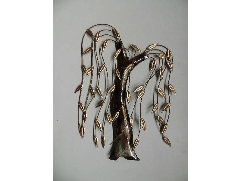 Wanddecoratie metaal 3d treurwilg eliassen home & garden pleasure