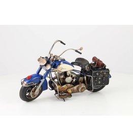 Miniatuurmodel blik Motor blauw