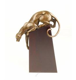 Creeping Panther Bronzestatue
