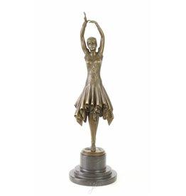 Bronze Statue Klassische Tänzer