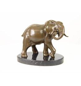 Elephant Bild Bronze 25cm