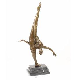 Bronze-Statue Gymnast