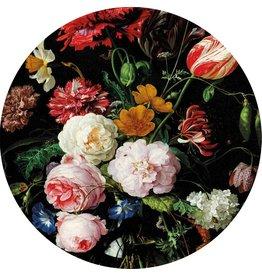 MondiArt Glas schilderij Bloemen rond