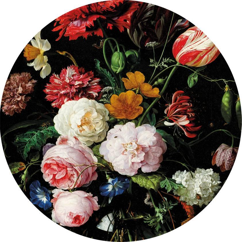 Genoeg Glas schilderij Bloemen rond - Eliassen Home & Garden Pleasure @VN88