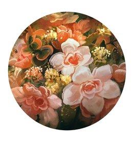 MondiArt Glasschilderij rond groot bloemen