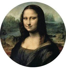 MondiArt Glasmalerei um Mona Lisa Durchmesser 40cm