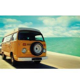 MondiArt Glasmalerei Bus am Strand 80x120cm