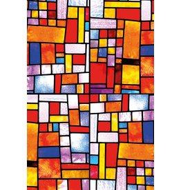 MondiArt Schilderij Glas Blokjes 80x120cm