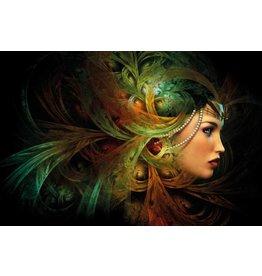 MondiArt Gemälde Glas Dame 80x120cm