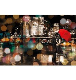 MondiArt Malerei Glas Romantik 80x120cm